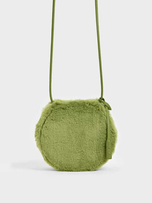 Textured Mini Crossbody Bag, Green, hi-res