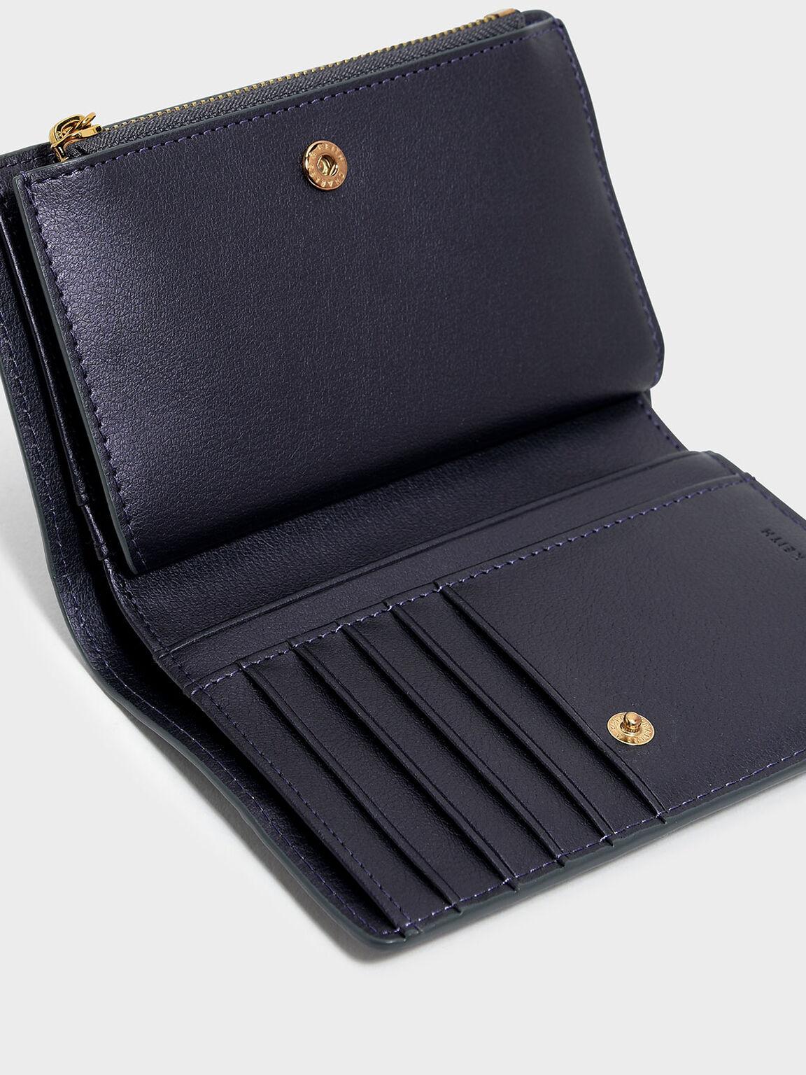 Classic Snap-Button Wallet, Peacock, hi-res