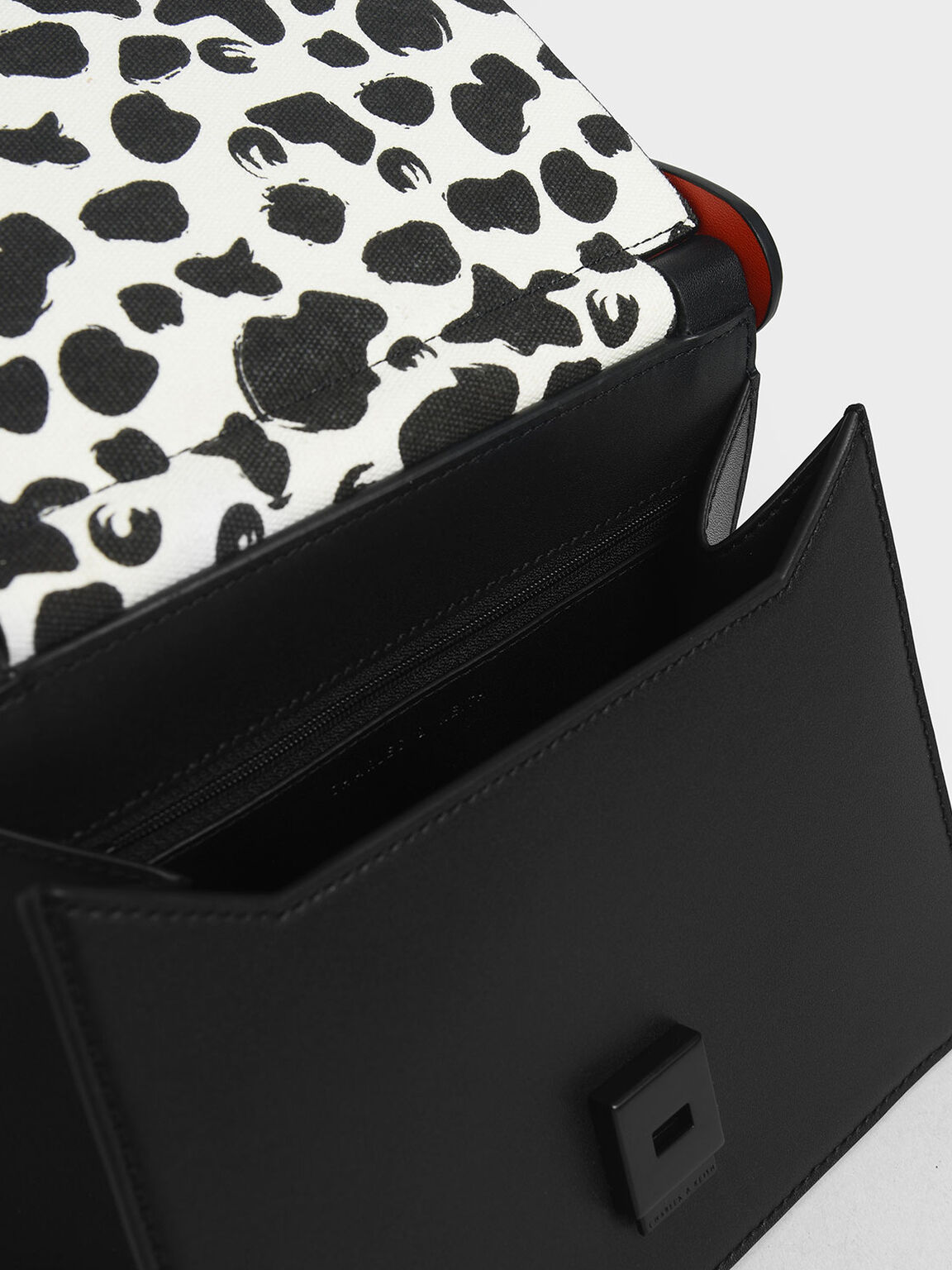 Cow Print Sculptural Bag, Multi, hi-res