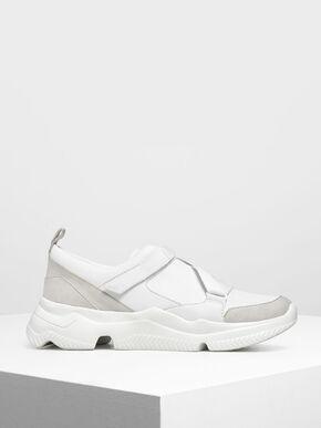 Velcro Slip-On Sneakers, White