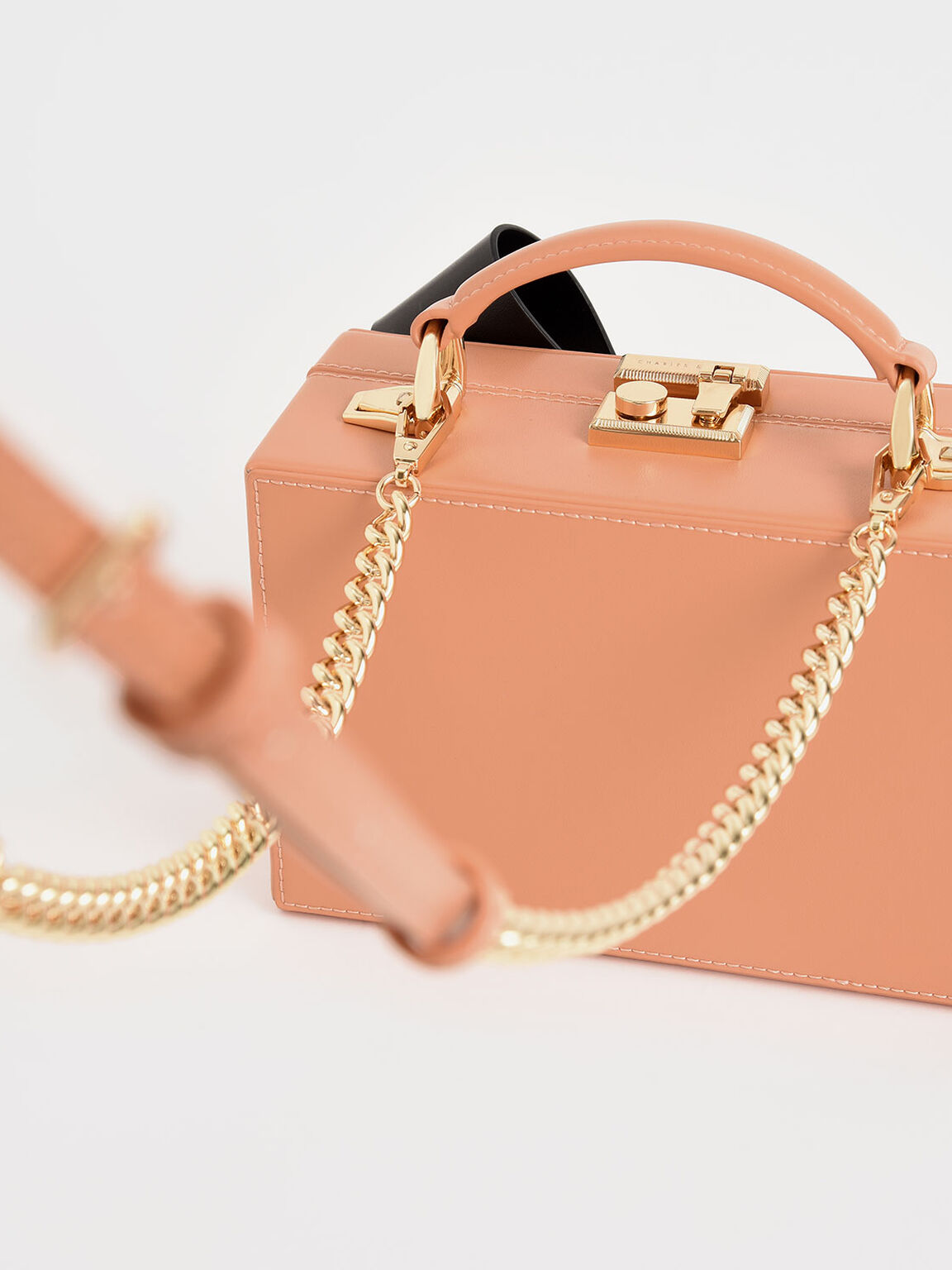 Bow Boxy Bag, Peach, hi-res