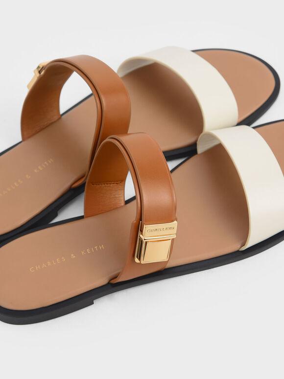 金屬扣拖鞋, 混色, hi-res