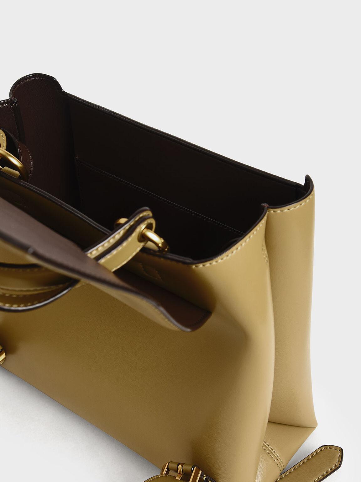 Stone-Embellished Backpack, Khaki, hi-res