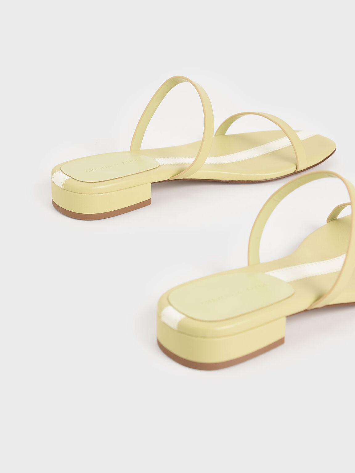 率性細帶拖鞋, 黃色, hi-res