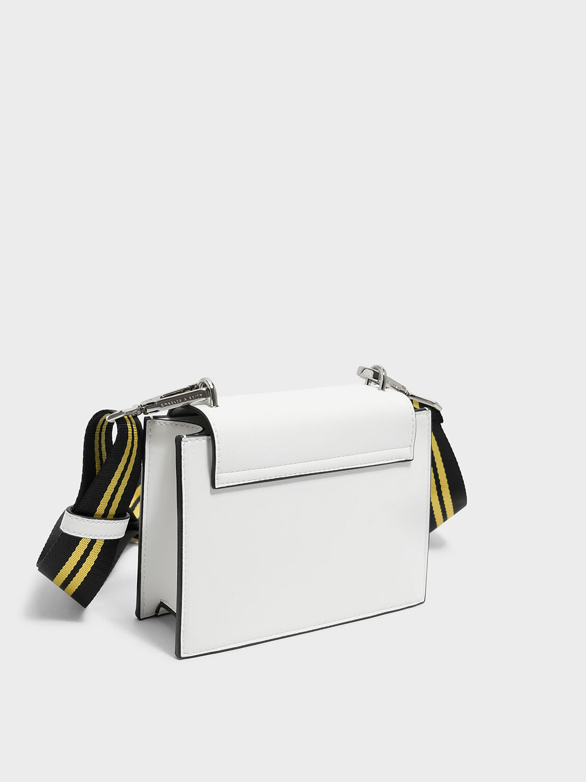 Nylon Strap Crossbody Bag, White, hi-res
