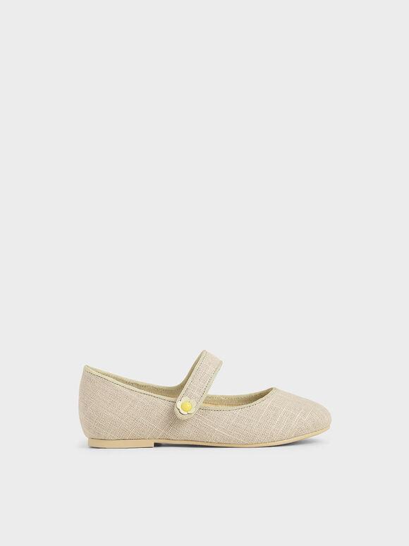 兒童瑪莉珍芭蕾鞋, 米黃色, hi-res