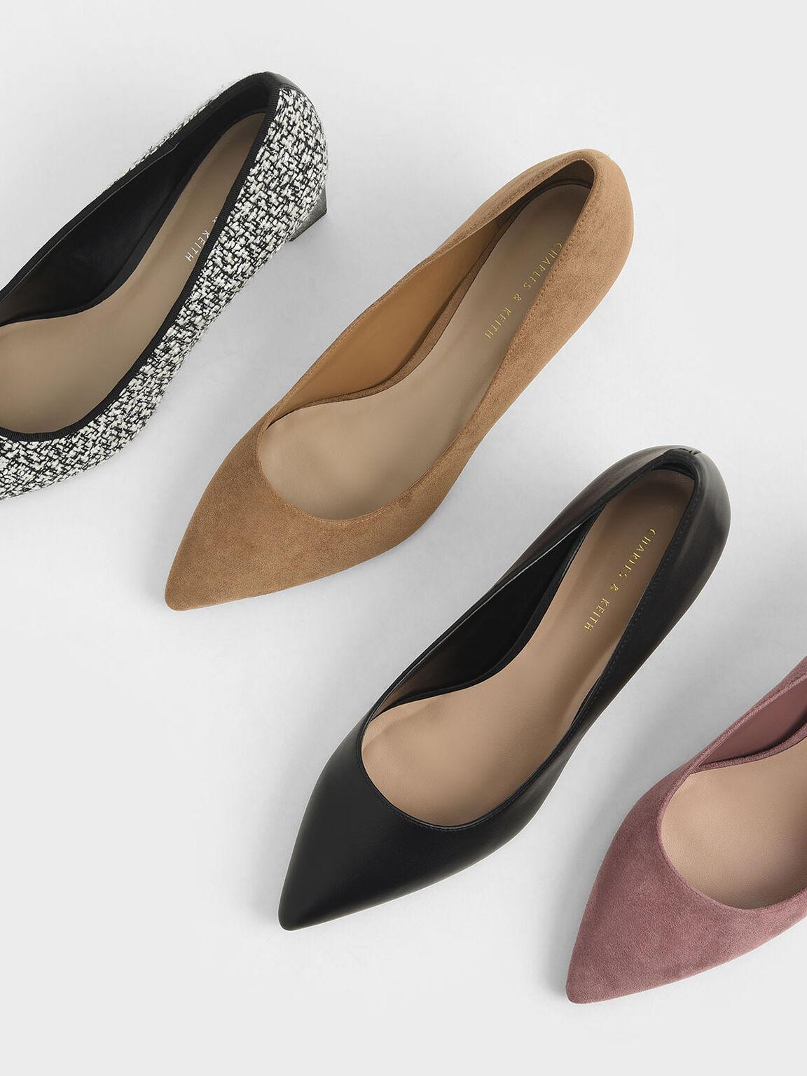 經典粗跟鞋, 黑色, hi-res