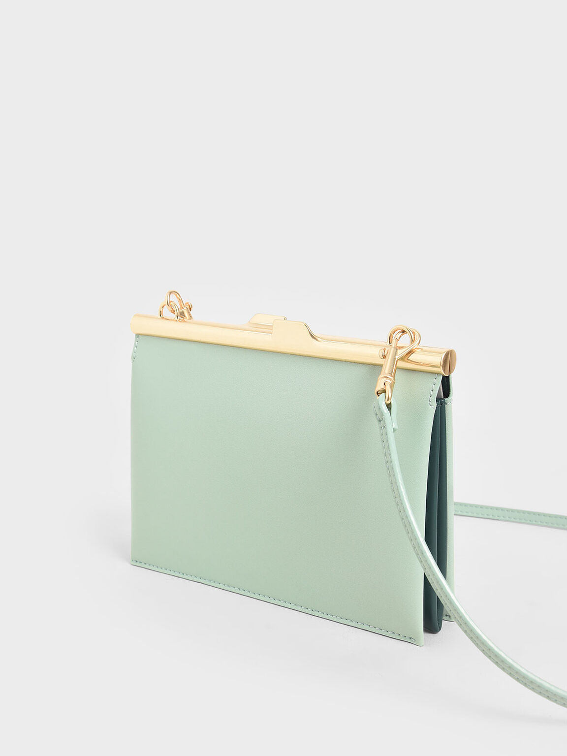 Square Clutch, Mint Green, hi-res
