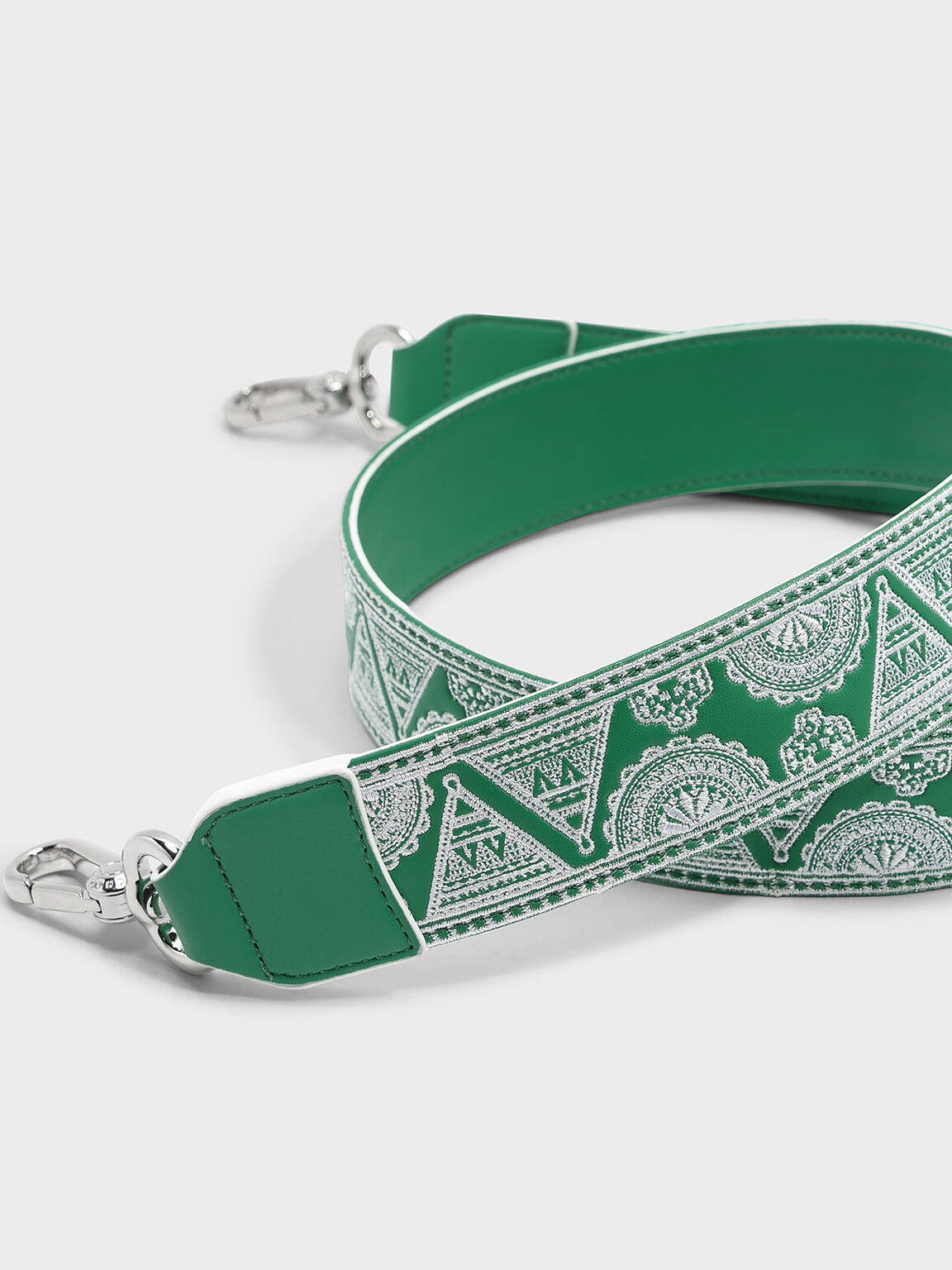 Printed Bag Strap, Green, hi-res