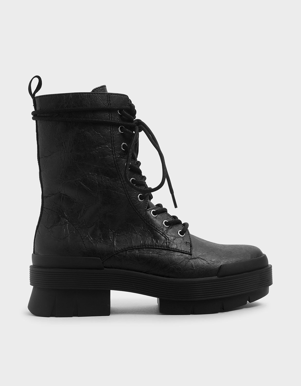 Lace Up Combat Boots | CHARLES \u0026 KEITH KH