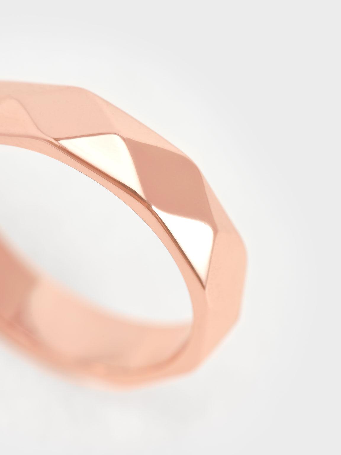 Geometric Ring, Rose Gold, hi-res