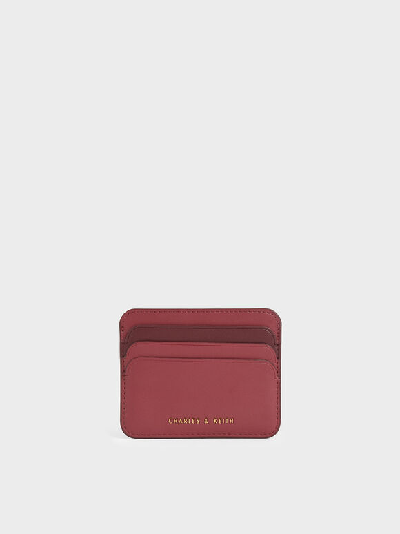 Two-Tone Multi-Slot Card Holder, Rose, hi-res