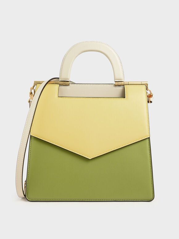 Two-Tone Envelope Bag, Multi, hi-res
