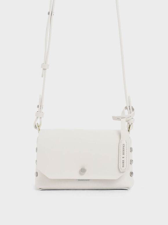 Mini Reversible Front Flap Crossbody Bag, Cream, hi-res