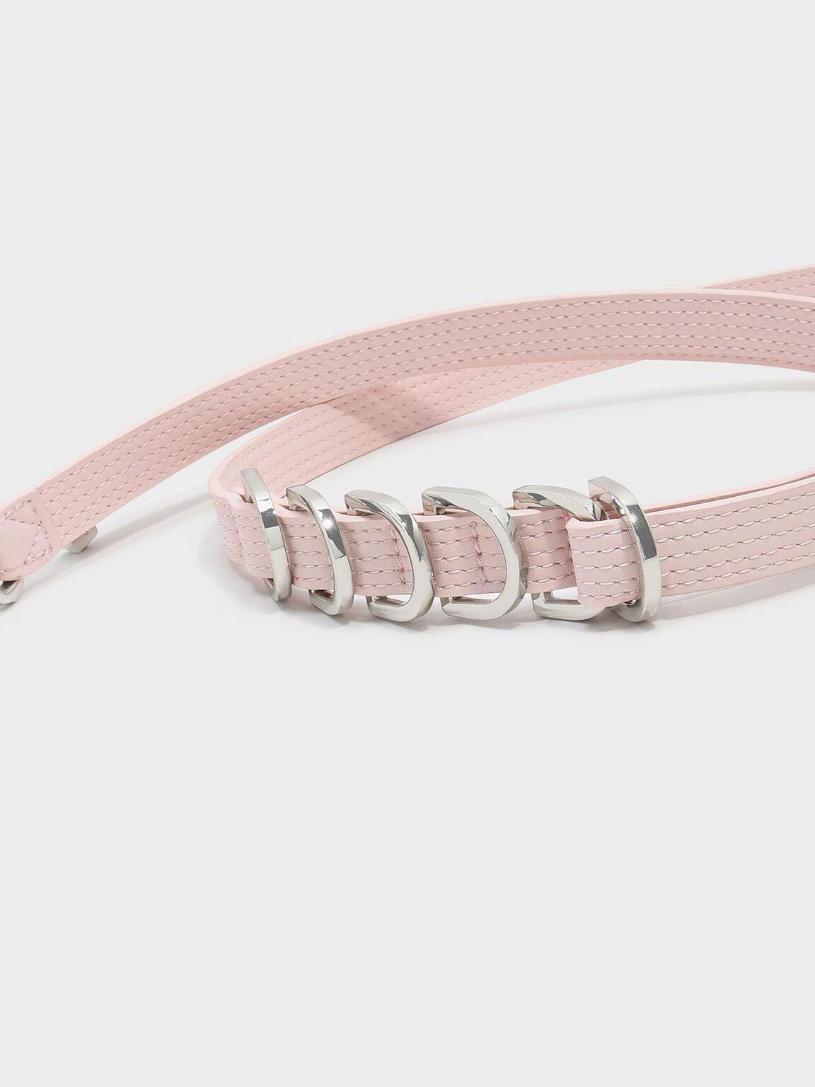 Ring Detail Bag Strap, Pink, hi-res