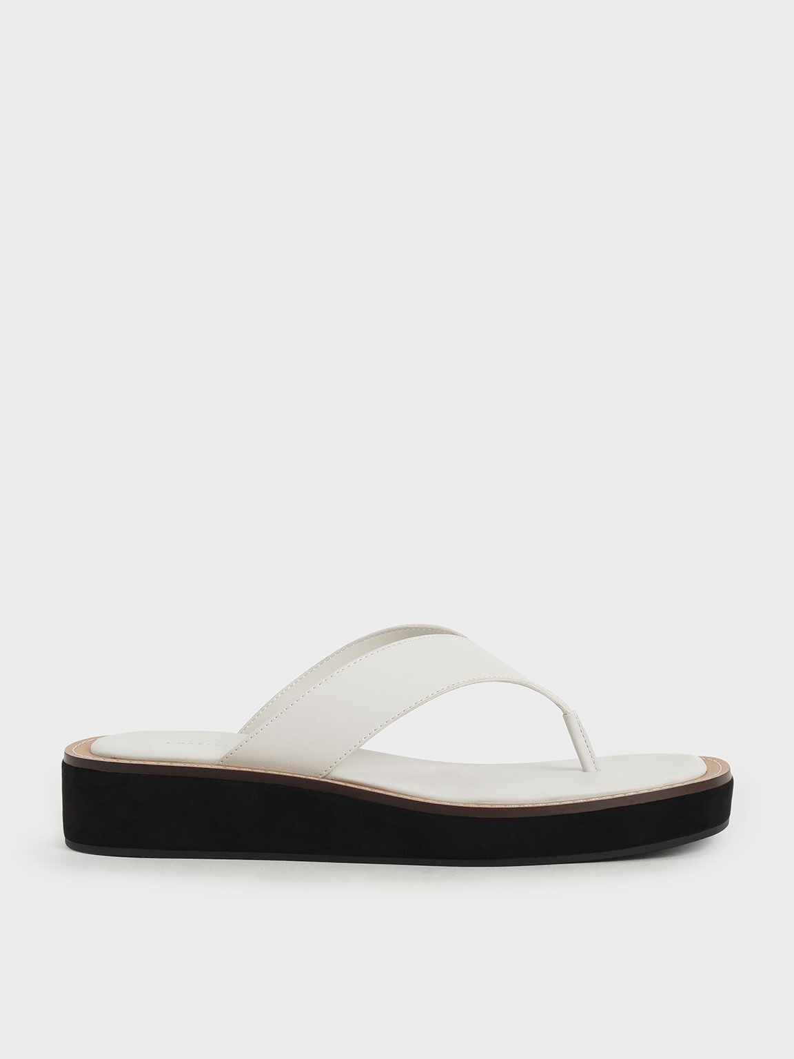 Platform Thong Sandals, Chalk, hi-res