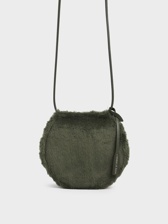 Textured Mini Crossbody Bag, Olive, hi-res