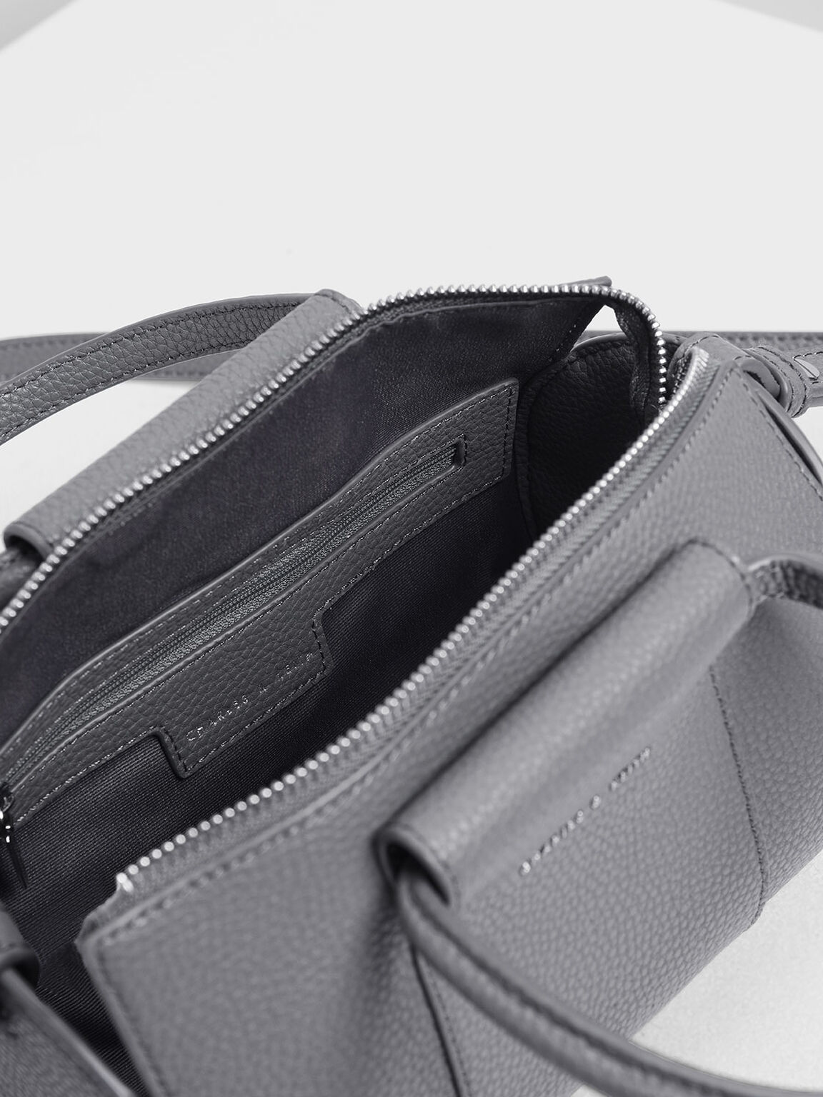 Ring Handle Bowling Bag, Grey, hi-res