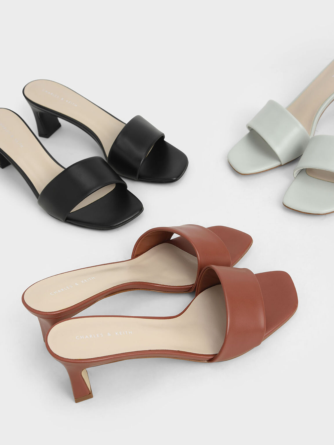 Open Square Toe Mules, Brick, hi-res