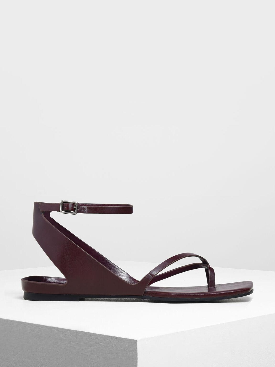 夾腳涼鞋, 深紫紅, hi-res