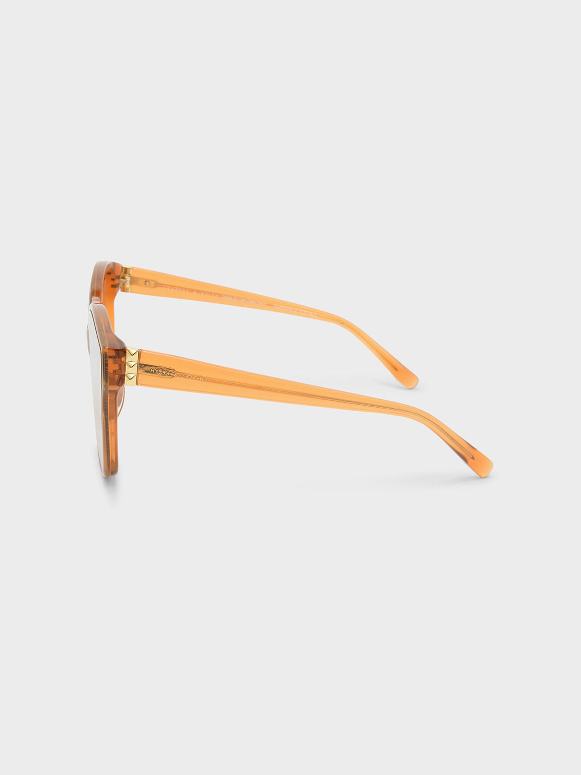 Acetate Frame Sunglasses, Orange, hi-res
