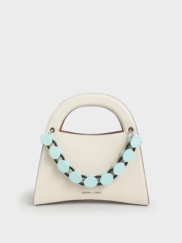 Acrylic Top Handle Sculptural Bag, Multi, hi-res