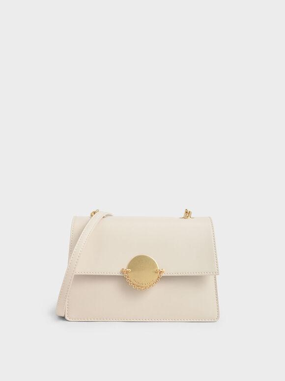 經典細鍊手拿包, 奶油色, hi-res
