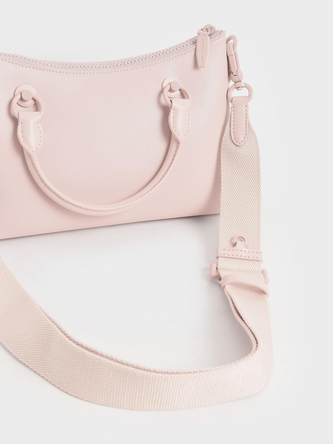 Double Handle Shoulder Bag, Light Pink, hi-res