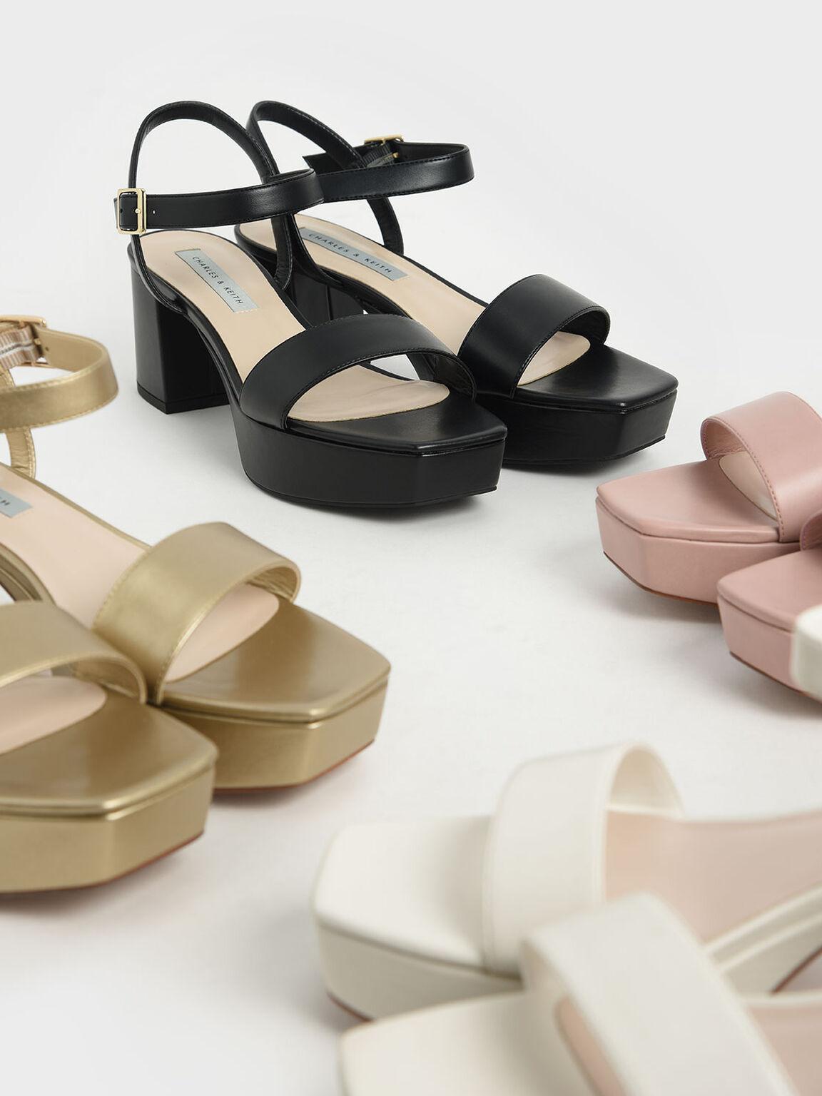 Ankle Strap Platform Sandals, Chalk, hi-res