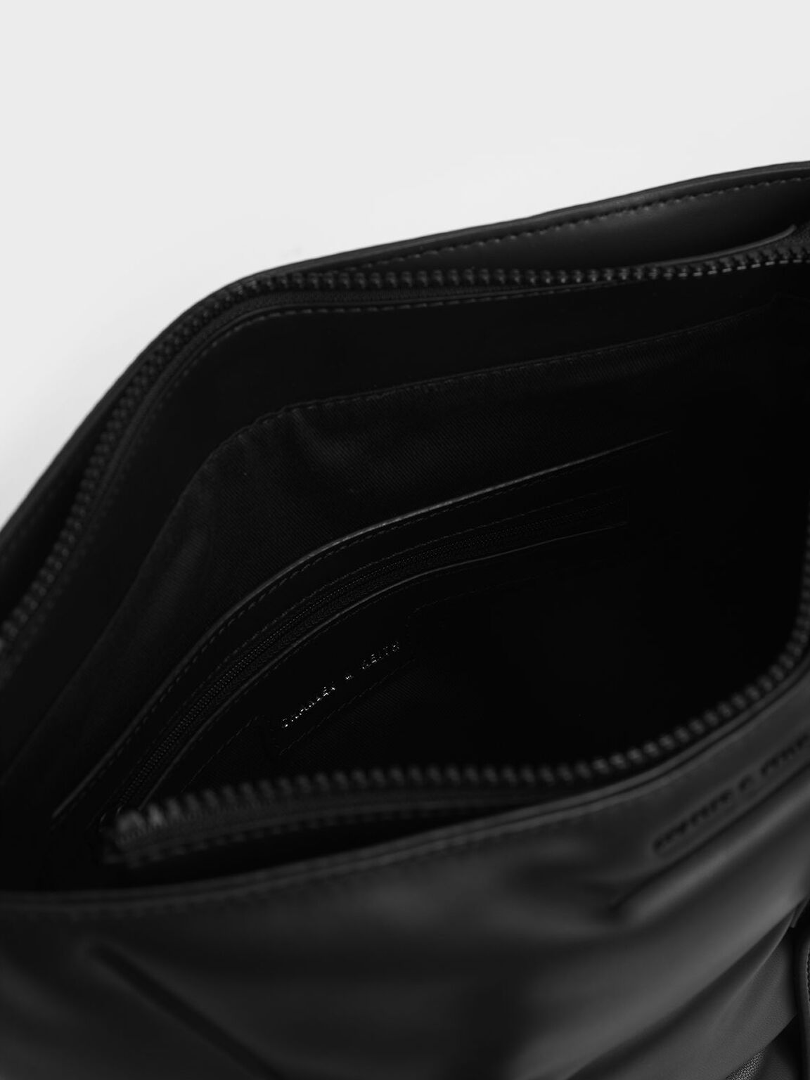 Puffer Double Handle Tote Bag, Ultra-Matte Black, hi-res