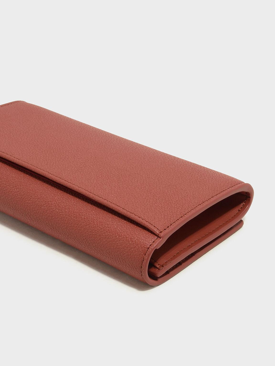 Basic Long Wallet, Clay, hi-res