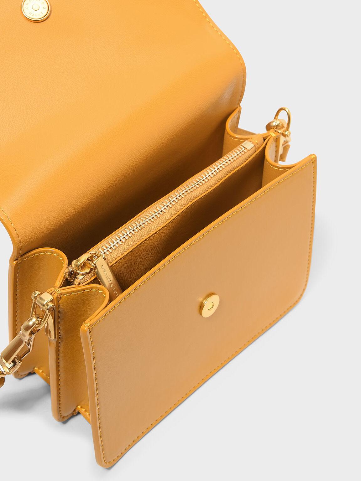 Tassel Detail Crossbody Bag, Mustard, hi-res