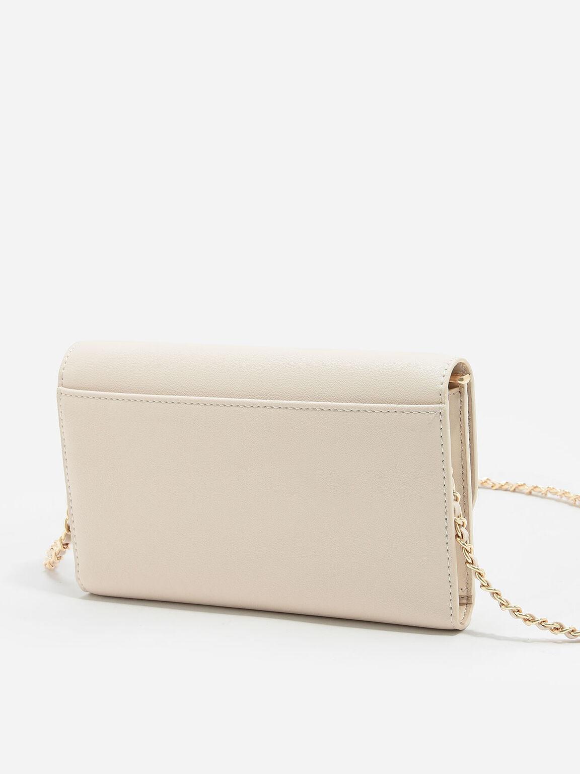 Front Flap Wallet, Ivory, hi-res