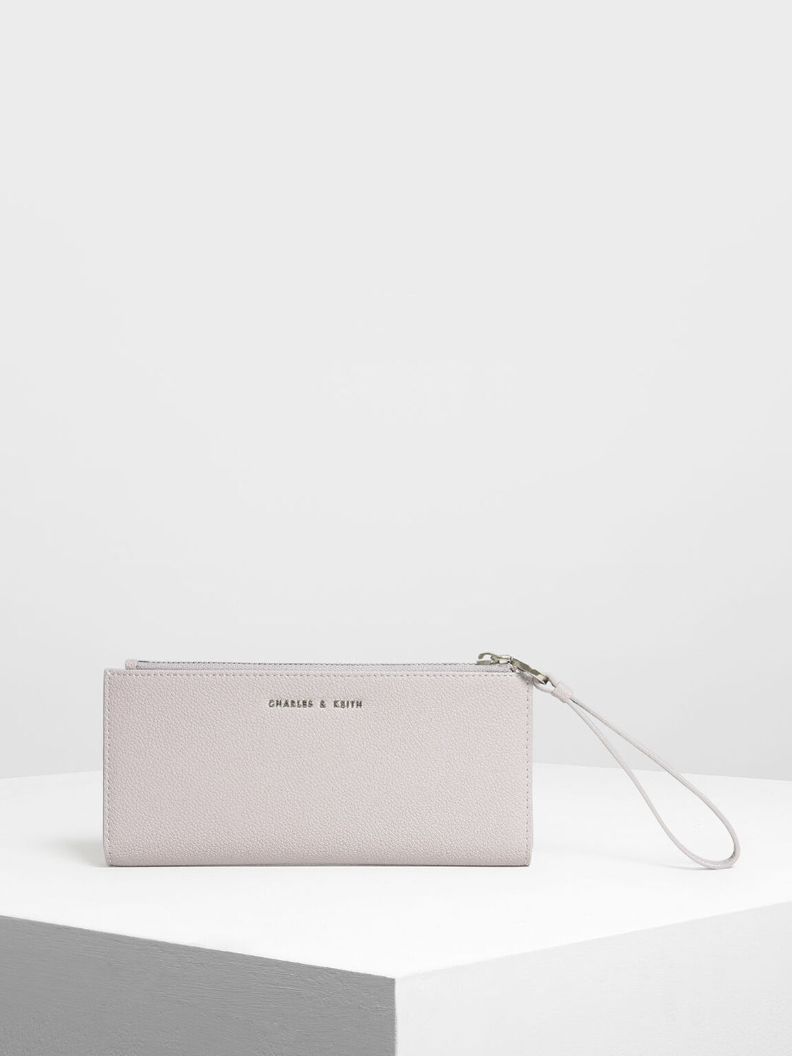 Wristlet Handle Wallet, Lilac, hi-res