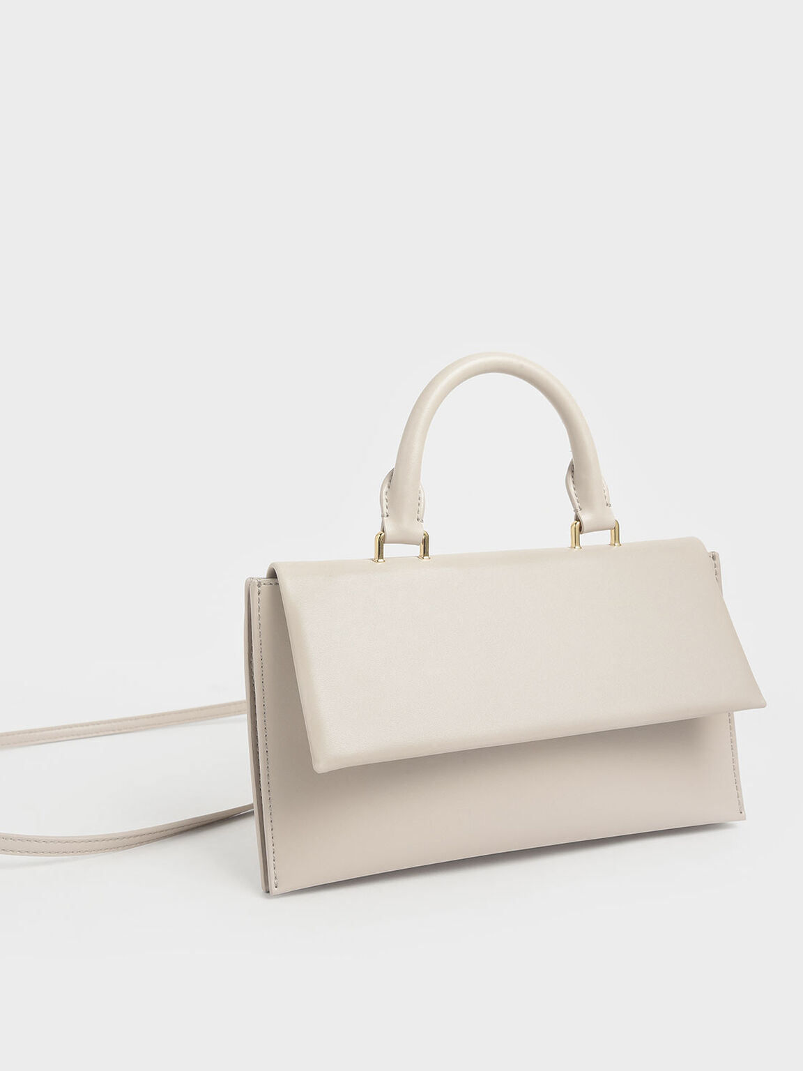Rectangular Top Handle Bag, Nude, hi-res