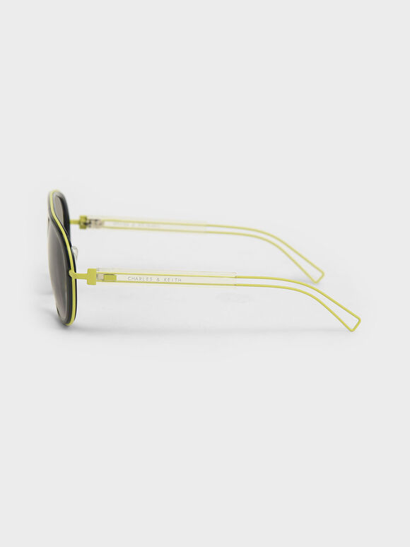 Double Bridge Sunglasses, Black, hi-res