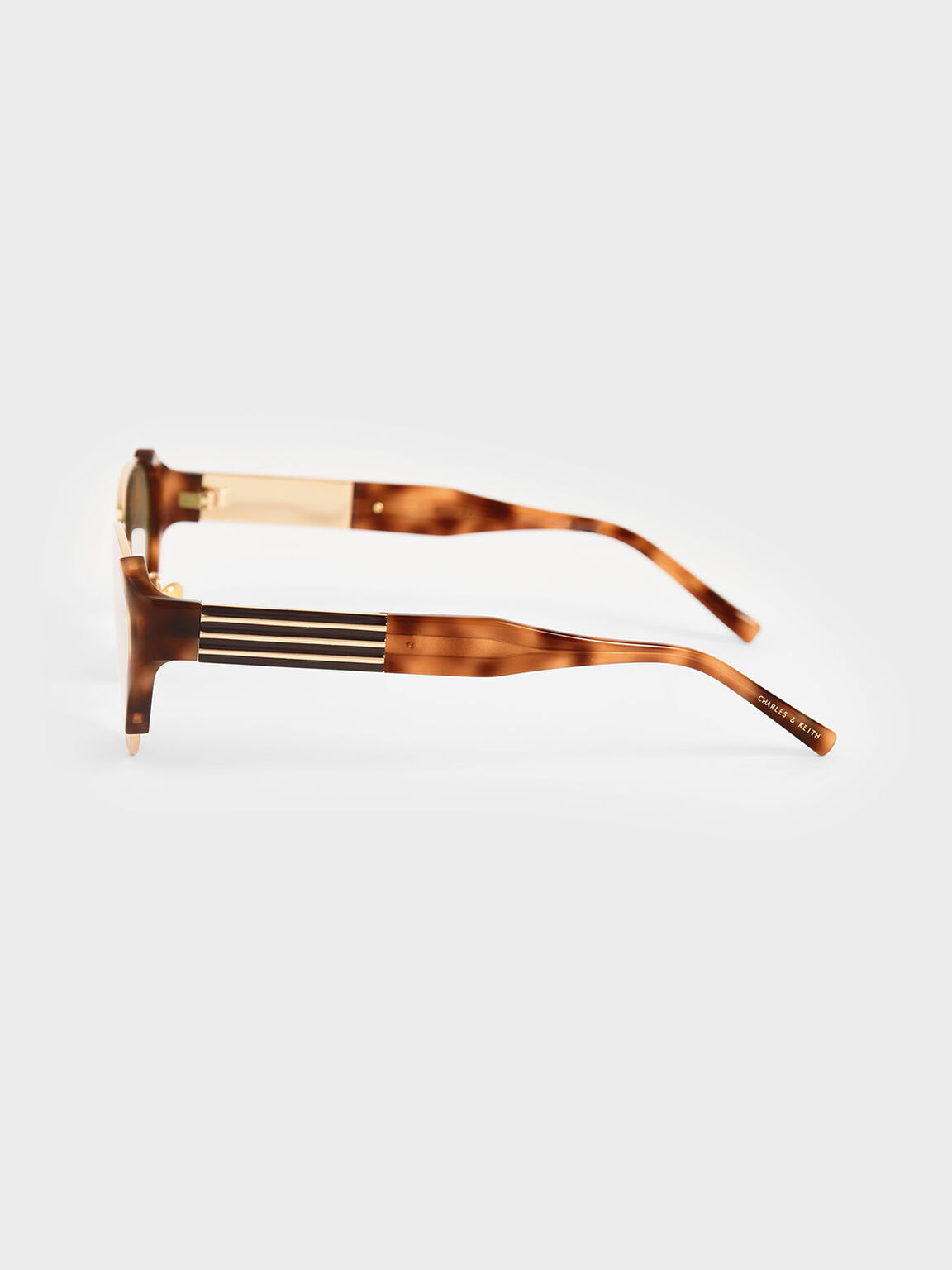 Acetate Striped Tortoiseshell Cat-Eye Sunglasses, T. Shell, hi-res