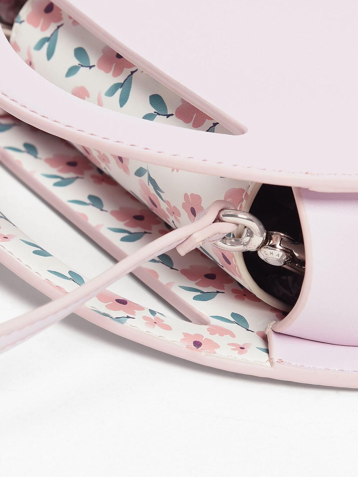 Round Crossbody Bag, Light Pink, hi-res