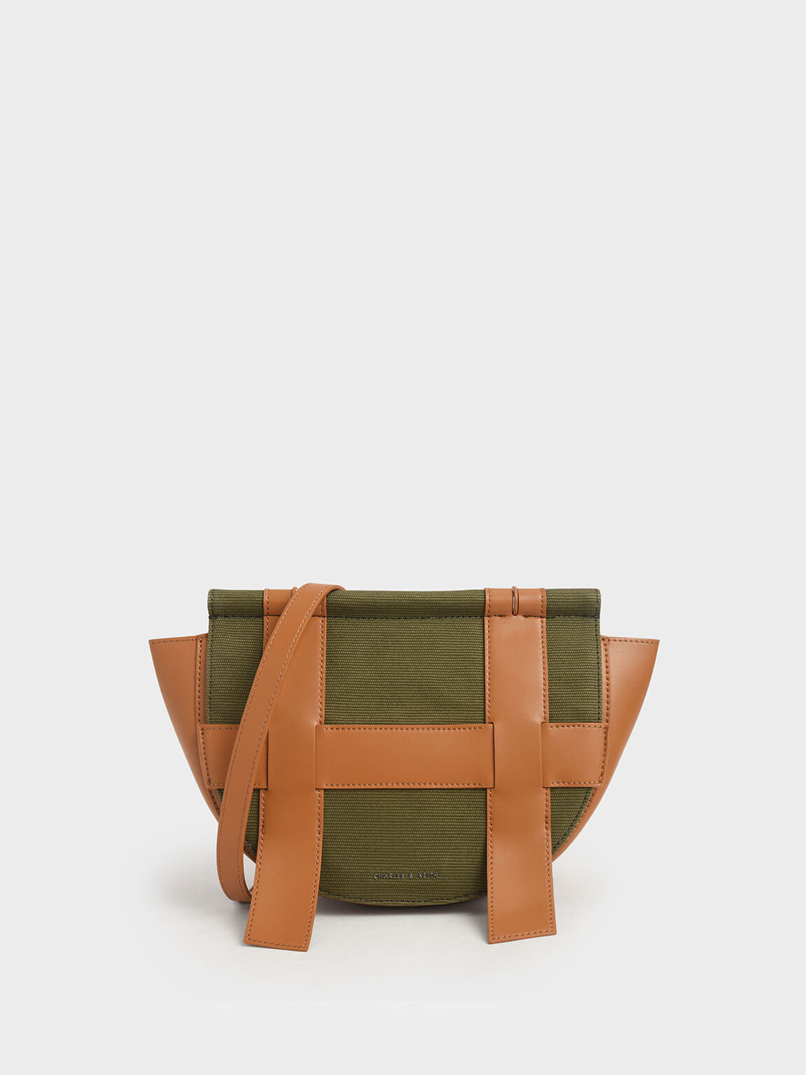 Caged Canvas Crossbody Bag, Olive, hi-res