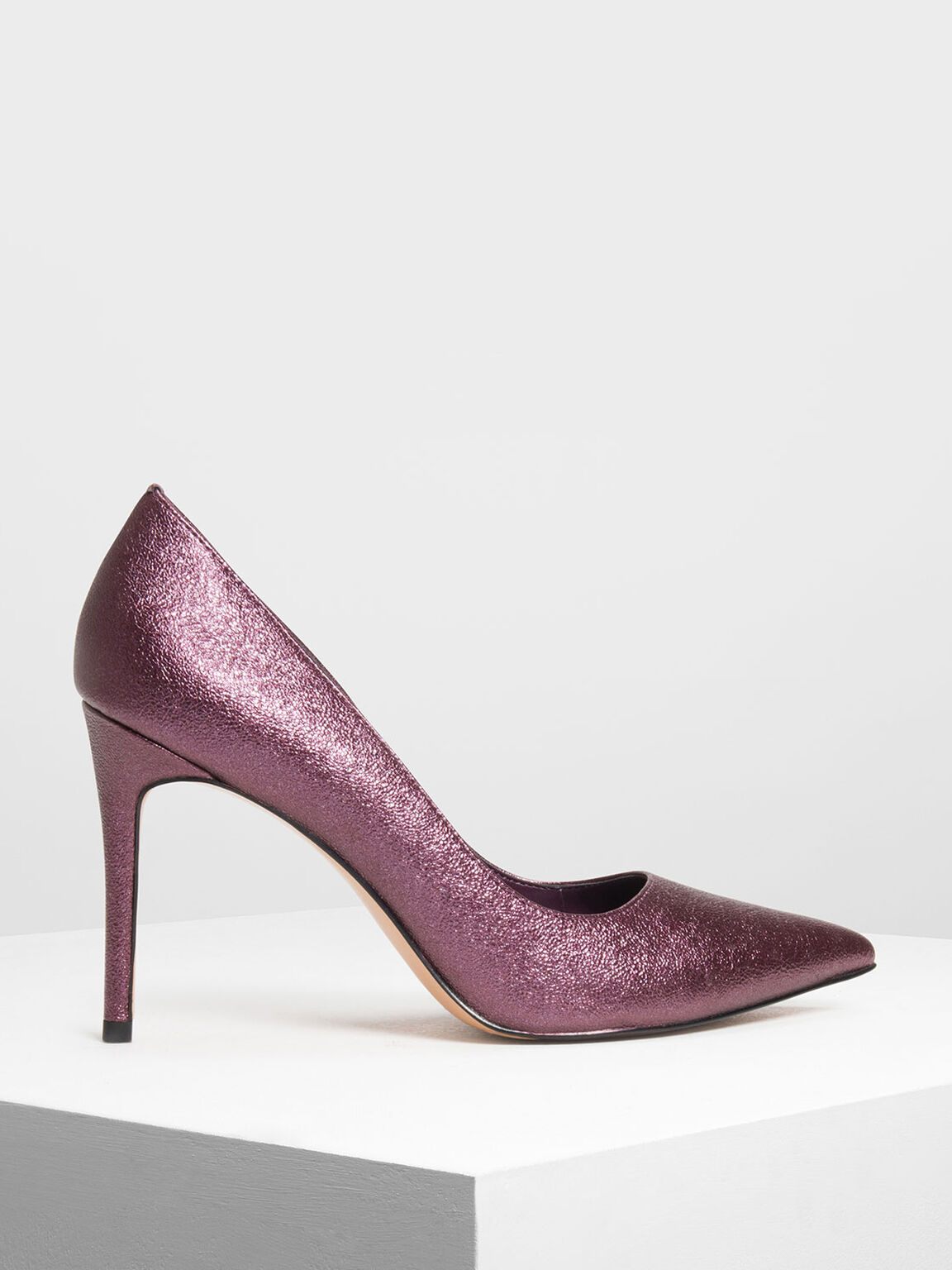 Classic Pointed Toe Pumps, Purple, hi-res