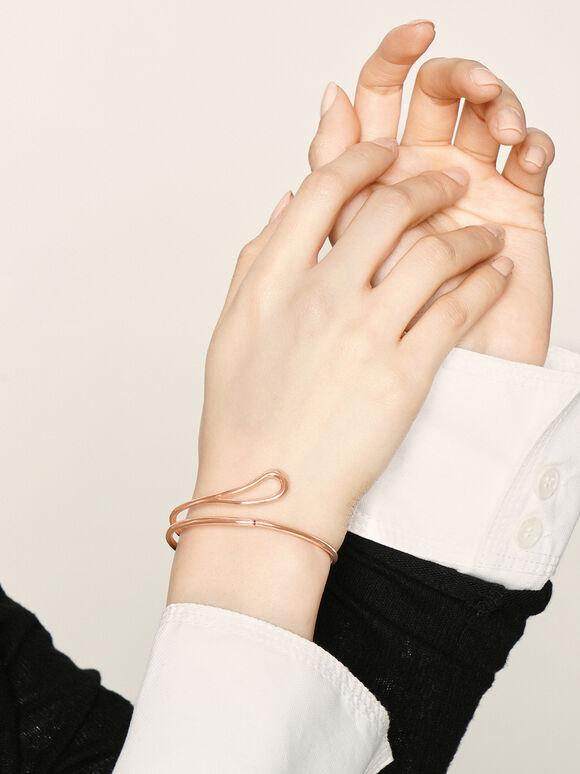 Sculptural Cuff Bracelet, Rose Gold, hi-res