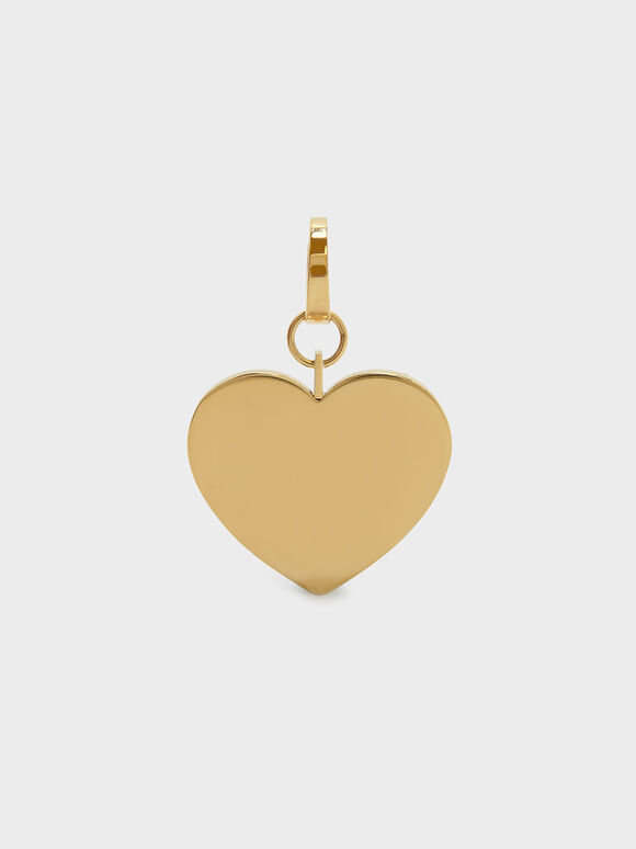Gold Heart Keychain, Gold, hi-res