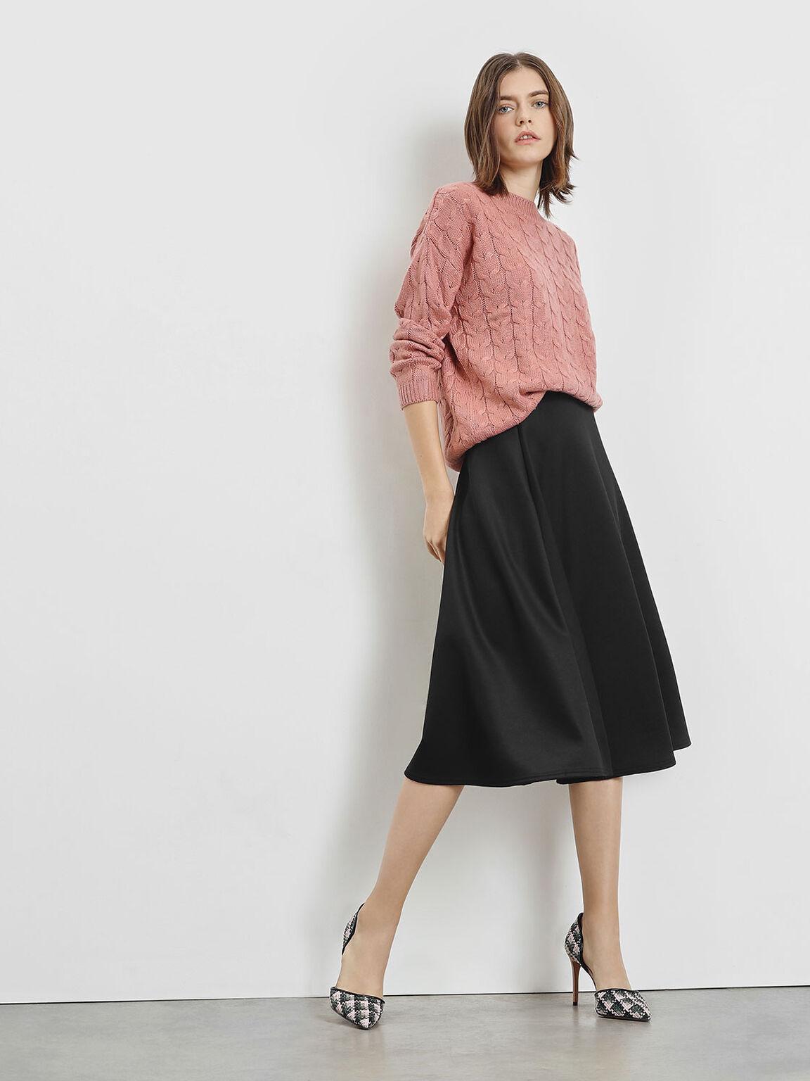 編織細跟鞋, 嫩粉色, hi-res