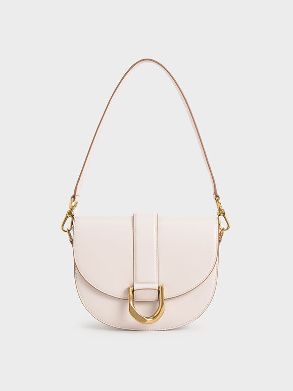 Gabine Saddle Bag, Pink, hi-res