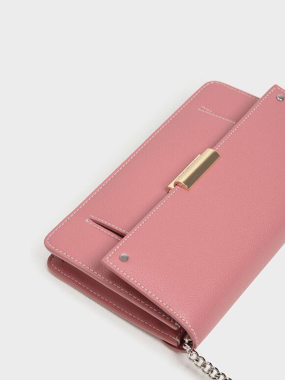 Chain Wallet, Pink, hi-res