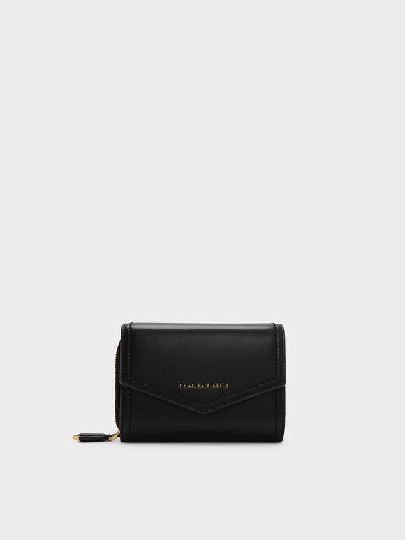 Envelope Small Wallet, Black, hi-res