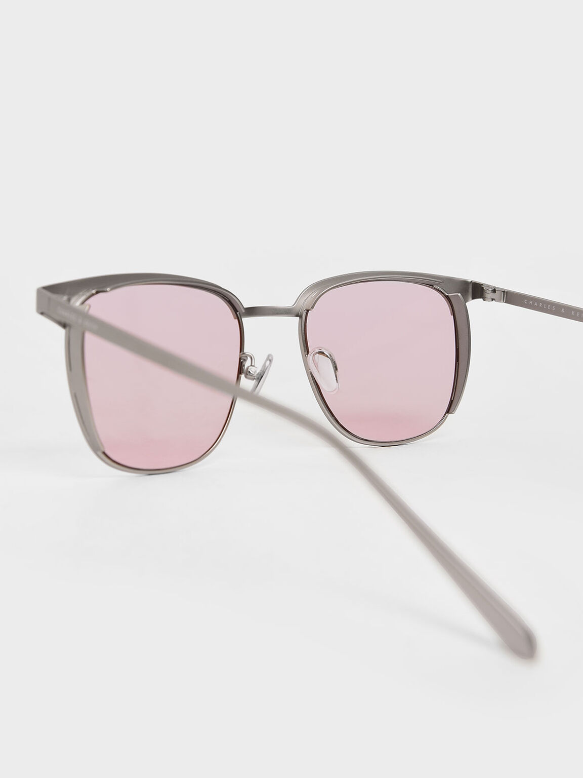 Tinted Rectangular Sunglasses, Pink, hi-res