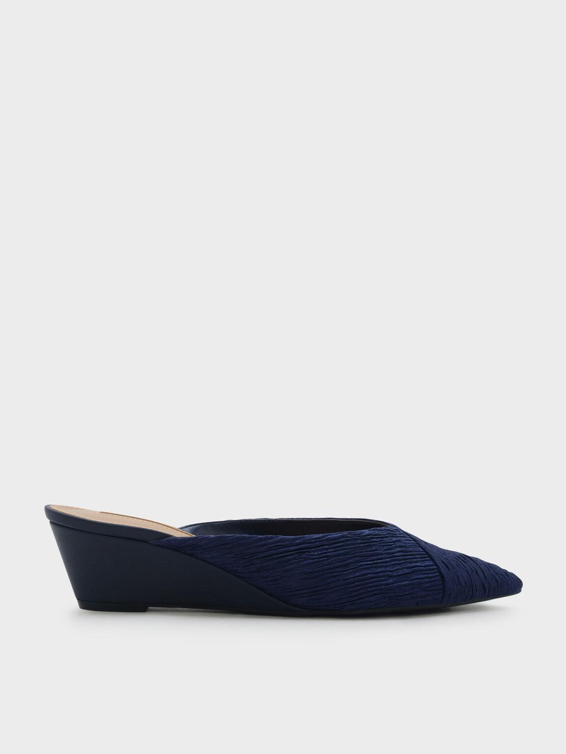 V字楔型穆勒鞋, 海軍藍, hi-res