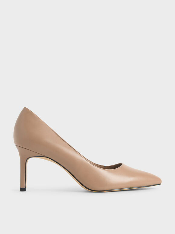 Pointed Toe Pumps, Nude, hi-res