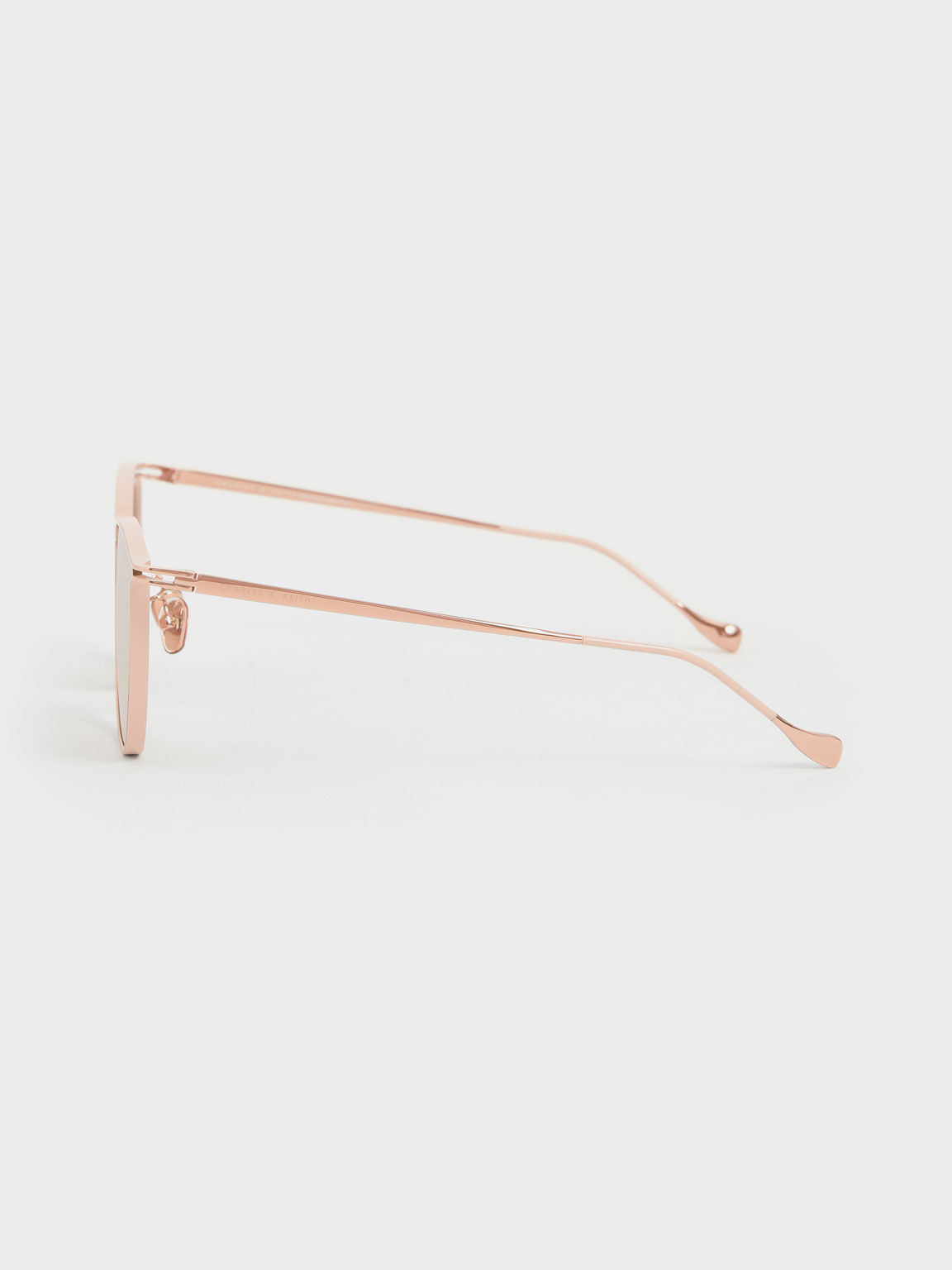 Wire Frame Butterfly Sunglasses, Rose Gold, hi-res